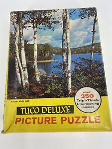 TUCO 1930's Deluxe Picture Puzzle 'Birch Lake' complete with 350 pieces