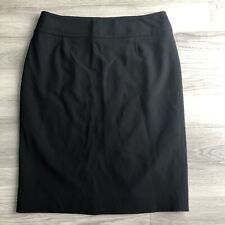 HOBBS Womens Black Pencil Skirt Size 12 Fitted Straight Wool Office Work Smart