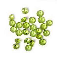Natural Peridot 3mm Round Faceted Cut 25 Pieces Green Color Loose Gemstone Lot