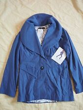 KaiT by Kaitlyn Thomas Blue cotton Studded Blazer In Size 8 NWT designer