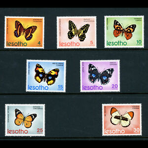 LESOTHO 1973 Butterflies. SG 239-245. Mint Never Hinged. (AR807)