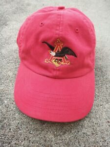 Anheuser Busch Collectible St. Louis Brewery Adjustable Hat Cap Red  Vintage