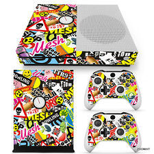 Xbox One S Console Skin Decal Sticker Graffiti Collage Design Custom Set