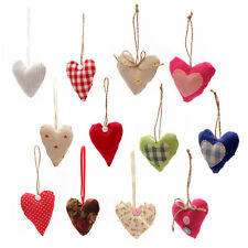 Pretty Colourful Fabric Hanging Heart Decoration - BNWT