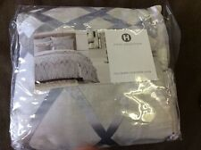 Hotel Collection Full/Queen Comforter Cover Dimensional $335 Ice blue