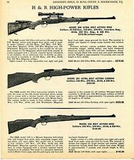 1969 Print Ad of Harrington & Richardson H&R Model 300 & 330 Rifle 301 Carbine