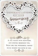 Congratulations On Your  WEDDING ANNIVERSARY Card, Heart Design