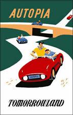 Disneyland Autopia Ride Poster Disney Tomorrowland - Buy Any 2 Get 1
