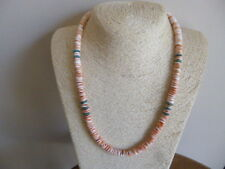 Natural Red Lip Luhuanus Shell  And Turquoise Native American  Navajo  Necklace