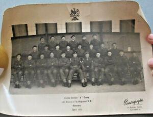 Unit photograph 185 Bat. 67 Regiment Royal Artillery at Oswestry in April 1951