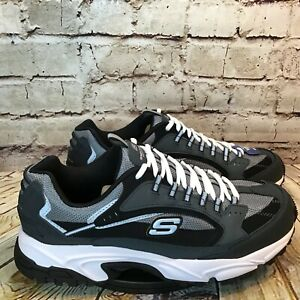 Skechers Sport Men's Stamina Nuovo Cutback Lace-Up Sneaker Wide Fit Size 11