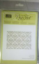 Stampin Up! Sizzix Big Shot TEXTURED IMPRESSIONS EMBOSSING FOLDER LACY BROCADE