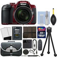 Nikon Coolpix B700 20.2MP 4K Digital Camera 60x Optical Zoom Red + 16GB Kit