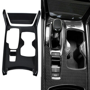For Honda Accord 2018 Carbon Fiber Interior Gear Shift Panel Frame Cover Trim