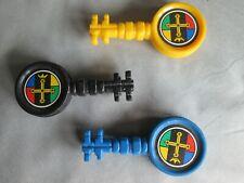 Vintage 1984 Voltron set of three (3) Black, Blue & Yellow lion keys