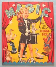 VINTAGE - MAGIC PAINT BOOK - WET THE BRUSH COLORING BOOK - #931 - LOWE - 1950's