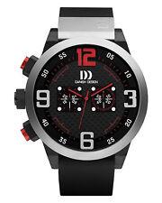 Danish Design IQ24Q1021 50mm Chronograph Black Rubber Quartz Sport Men's Watch
