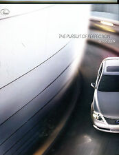2009 LEXUS BROCHURE -LX 470-RX 350 400-GX 470-IS 250 350-SC 430-GS-ES 350-LS 460