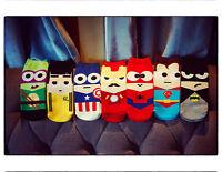 5 pairs superhero cotton ankle socks superman batman spiderman Ironman Bruce lee
