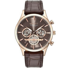 Gant GT005003 Ridgefield roségold braun Leder Armband Uhr Herren NEU