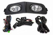 01-03 Honda Civic ES EM 2/4 Door JDM Clear Fog Light Kit + Harness Complete