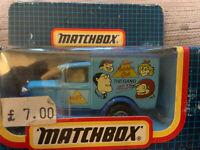 MATCHBOX 1:64 SCALE MODEL A FORD VAN 1989 JUNIOR MATCHBOX CLUB THE GANG MB38