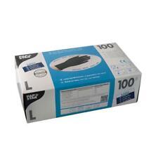 100 Stk Einmalhandschuhe Latex puderfrei schwarz Größe L PAPSTAR Einweg