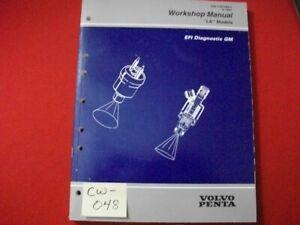 """1997 FACTORY GM VOLVO PENTA """"LK"""" MODELS WORKSHOP MANUAL EFI DIAGNOSTICS GM VGC"""