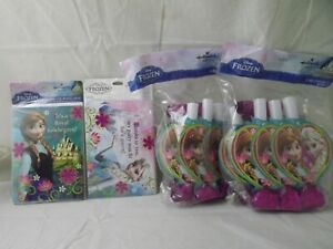 NEW SEALED Frozen Party Set for 16 Hallmark Invite + Thank You + Blowouts Lot