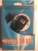 USB 1.1 to RS-232 Adapter Converter NEW. Includes USB Serial driver on CD-ROM