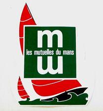 Autocollant LES MUTUELLES DU MANS - Assurance -  Sticker collector Année 80/90