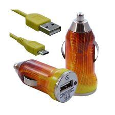 Chargeur voiture allume cigare USB avec câble data avec CV05 pour Sony Ericsson