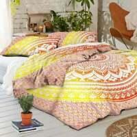 Indian Mandala Doona/Quilt/Duvet Cover Set Single/Double/Queen/King Size Bed