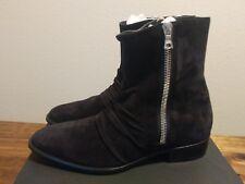 AMIRI Skinny Black Leather Suede Boots SZ EU 44 US 11