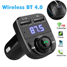 Wireless Bluetooth FM Transmitter Dual USB Charger Car Kit LCD TFcard MP3 Player