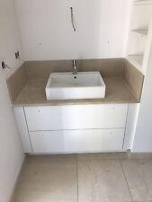 Duravit Vero Aufsatz Waschtisch Hansgrohe Axor UNO 2Armatur Granitplatte  Schrank
