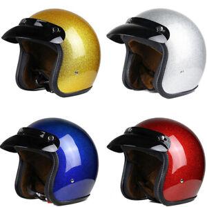 DOT Shiny Motorcycle Helmet Open Face Jet Helmet Scooter Street S/M/L/XL/XXL