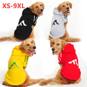 3XL-9XL Dog Clothing Coat Large Extra Big Pet Warm Clothes Puppy Hoodie Jacket