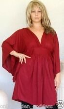 maroon top blouse poncho empire butterfly XL 1X 2X ZI950