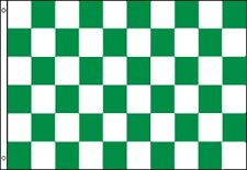 3'x5' Checkered Flag Green & White Outdoor Indoor Banner Pennant Sports Huge 3x5