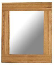 Oxbury solid oak furniture 90 x 90 hallway bedroom square wall mirror