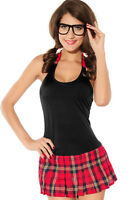 Sexy School Girl Britney Uniform Fancy Dress Halloween Costume 8 10 12