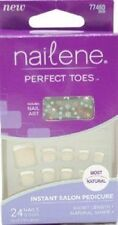 Lot of 8 Nailene Perfect Toes Instant Salon Pedicure - Beige French 77460