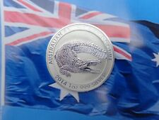 2014 Australian Saltwater Crocodile coin .999 fine silver