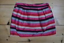 Uber Cute Topshop Mini Skirt Size 10 Candy Stripe in Black, Pink & Grey