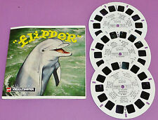 STEREOSCOPE GAF  VIEW-MASTER 1966 MGM FLIPPER LE DAUPHIN BUD SANDY