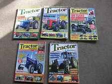 JOB LOT  OF  5  x  VINTAGE TRACTOR AND MACHINERY  MAGAZINES 2008 2009 2011