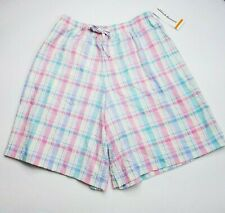 Alfred Dunner Plaid Shorts w/Elastic Waist - Tag size 18/More like 16 - NWT