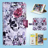 Sugar Skull Wallet Case Cover Samsung Galaxy S3 4 5 6 7 8 Edge Note Plus 026