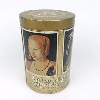 "Vintage Haeberlein Metzger German Cookie Round Tin Famous Artwork Print 7"" Tall"
